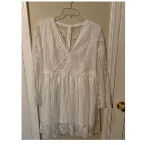 White XXL CupShe Lace Dress! 🌟NEVER WORN